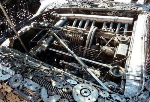 Mercedes Sports Car from Scrap (4)