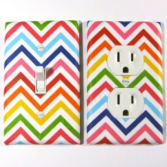 Rainbow Bright Chevron Stripes Pride Home Decor by ModernSwitch, $13.00