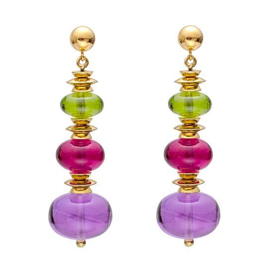 Goshwara Multicolored Gemstone Bead Earrings