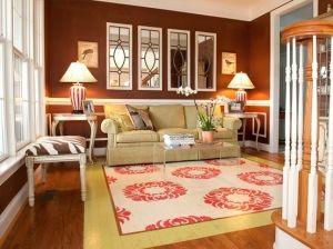 painted floor, love it