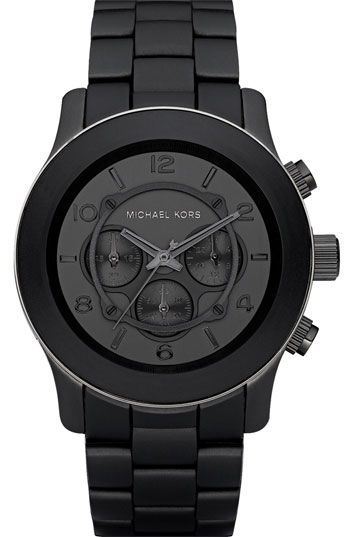 Another sweet watch. Black on Black- MICHAEL KORS