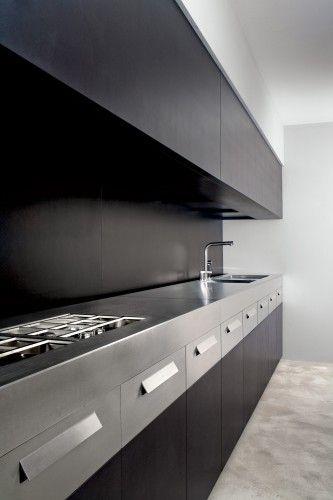 #kitchen design #interior design #modern #dark wood kitchen #minimalism #contemporary style - Weiss cucinebianchi  cucina contemporanea