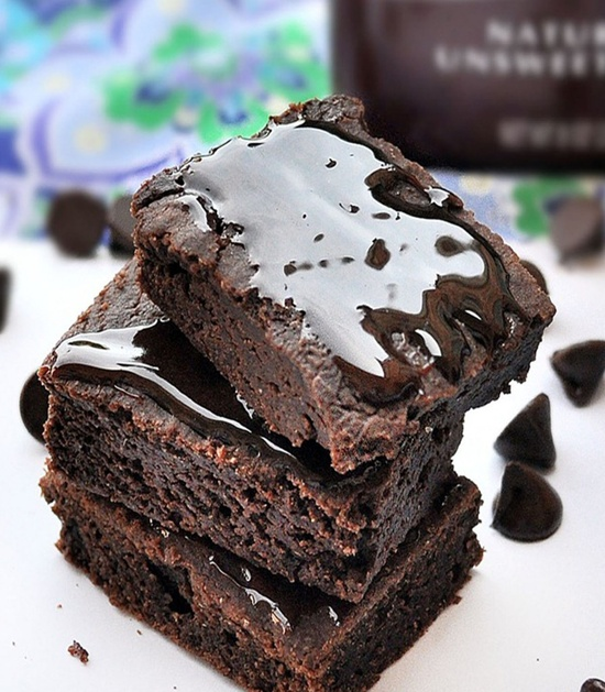 100 calorie brownies- For when you want to eat a whole pan of brownies...
