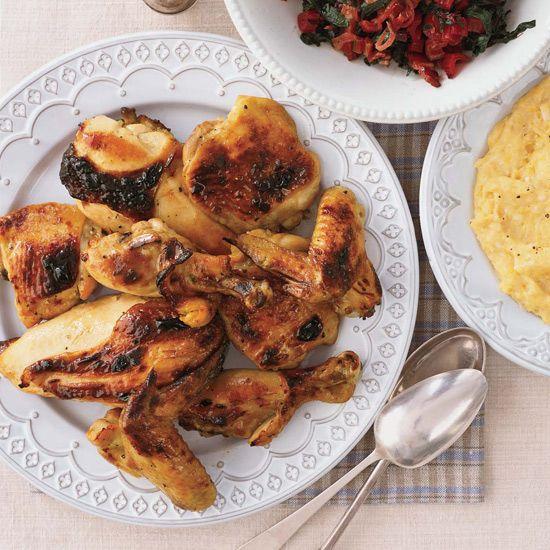 Honey Mustard Chicken // More Recipes from Bobby Flay: www.foodandwine.c... #foodandwine
