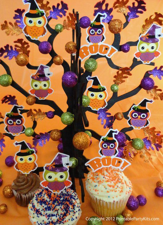 Printable Halloween owls