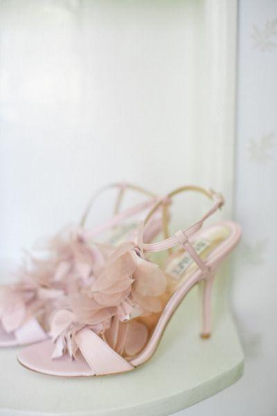 Romantic Blush Wedding Shoes