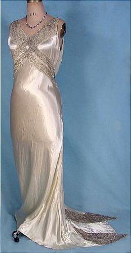 A Vintage 1930s Wedding Dress