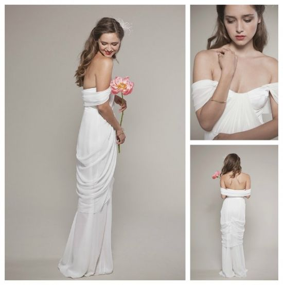 Draped Wedding Gown