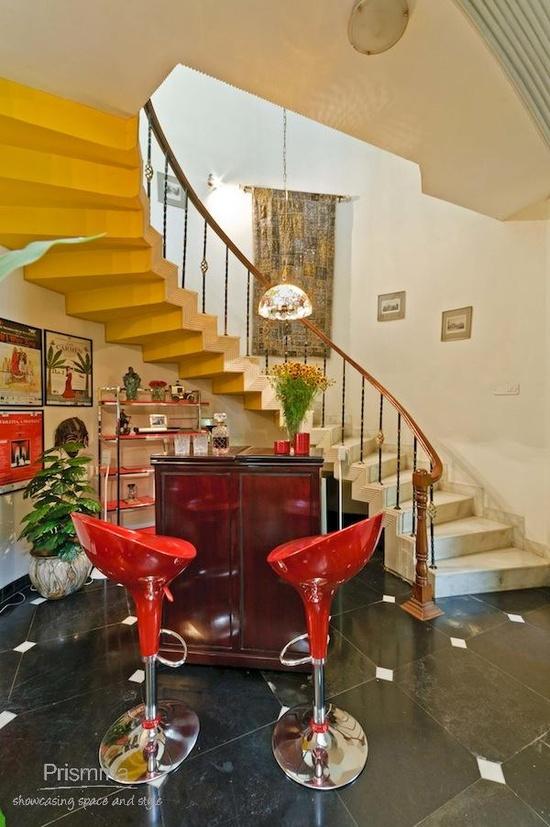 Staircase Design: Home Design. Delhi interior designer. Laroiya residence