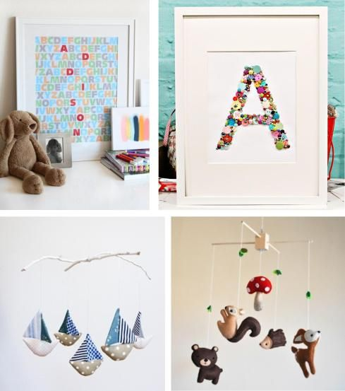 baby bedroom design handmade mobiles and artwork