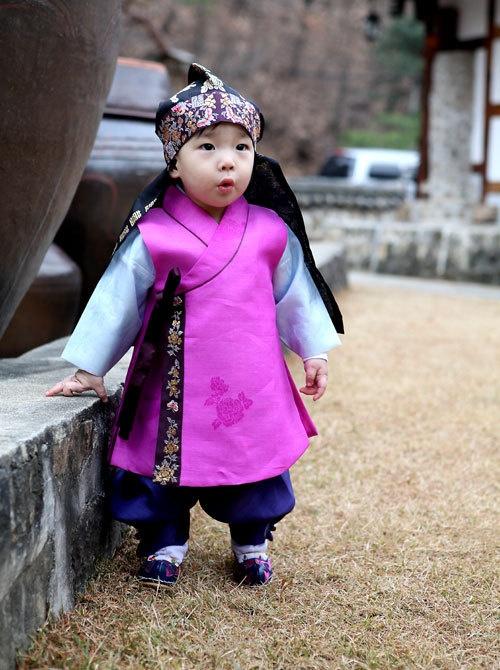 Baby boy's #hanbok  Korea