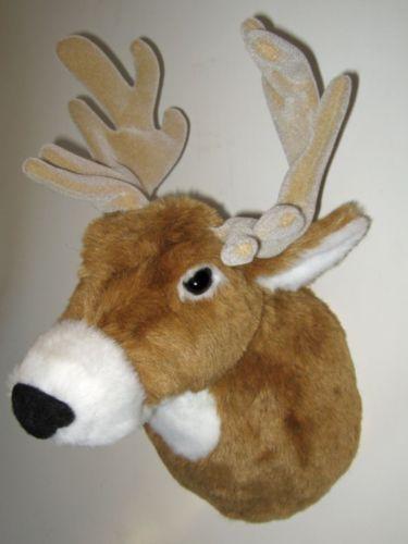 LARGE MOUNTED STUFFED ANIMAL DEER HEAD! FAIR GAME TROPHY PIECE