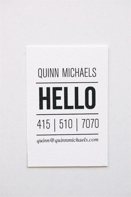 Quinn: Letterpress Calling Cards