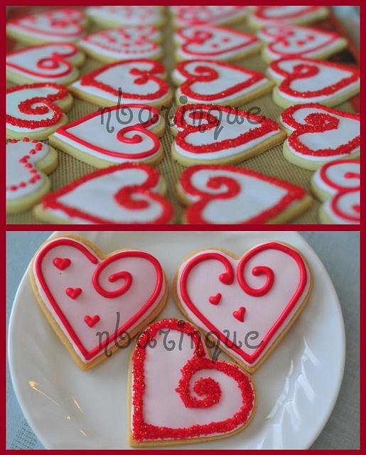 pretty Valentine's day cookies