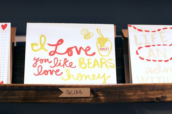 """I love you like bears love honey"" card"