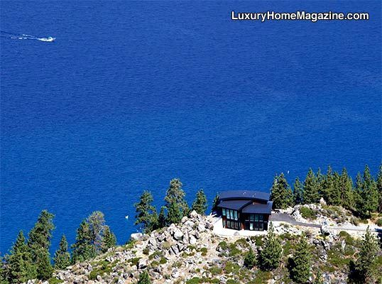 Lake Tahoe's Newest Icon #luxury #homes #house #cliff #home #modern #architecture #stunning #nature #retreat