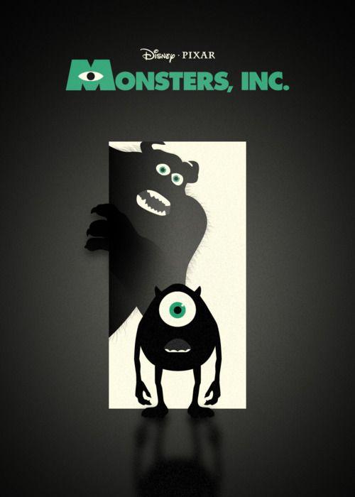 Minimal Movie Posters - Monsters, Inc