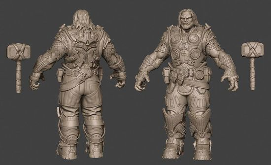 Gears of Thor 3D character artwork by 3D generalist bladeflush (Jay Clark) of Baltimore, Maryland!