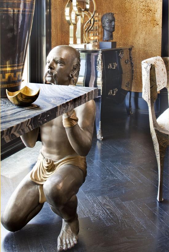 Kelly Wearstler Residential-look at those walls and herringbone floors...
