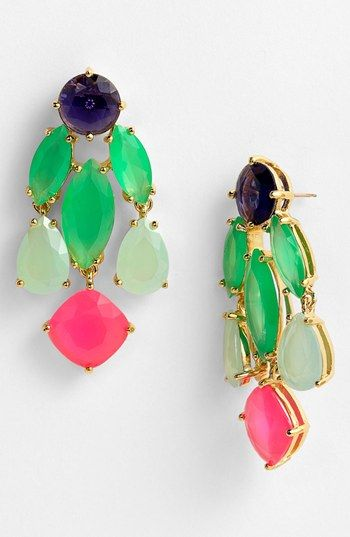 Pretty! kate spade new york statement chandelier earrings