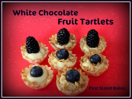 White Chocolate Ganache Mini Fruit Tarts