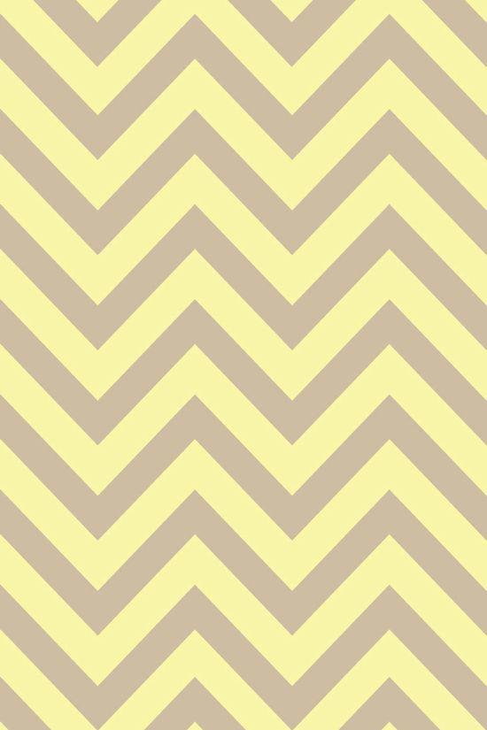 gray & yellow chevron phone wallpaper