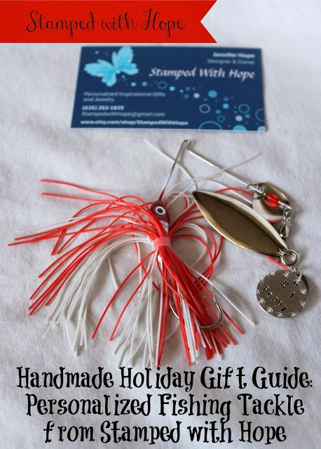 Handmade Holiday Gift Guide Review: Personalized Fishing Lures by Stamped with HopeBy Bare Feet on the Dashboard
