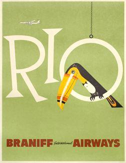 Artist Unknown poster: Rio - Braniff International Airways