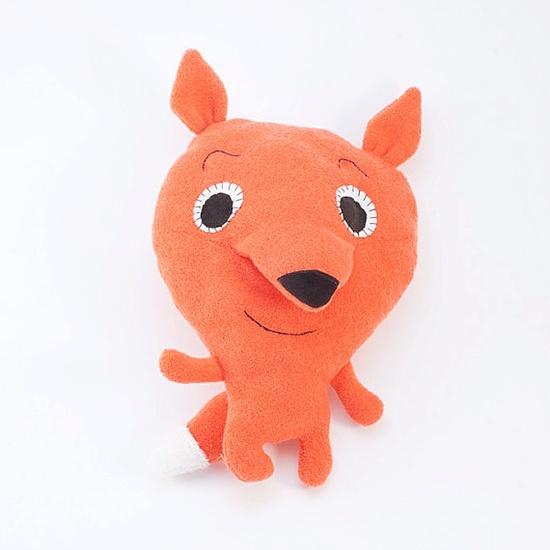Orange woodland fox   cuddle toy soft plush toy plushie by Vibys