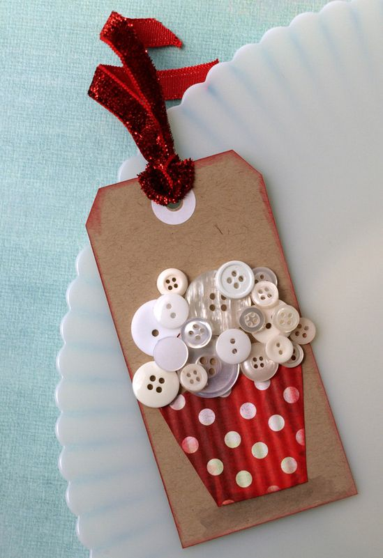 Buttons and Gift Tag