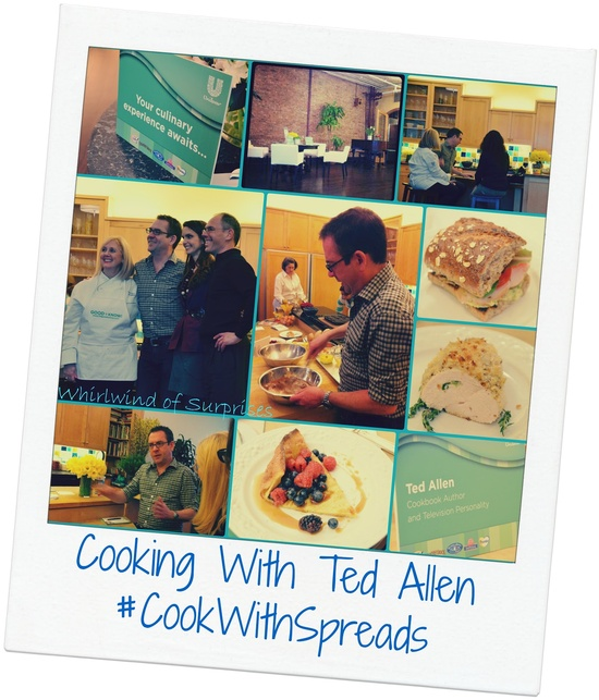 Whirlwind of Surprises: Cooking with Ted Allen! #CookWithSpreads