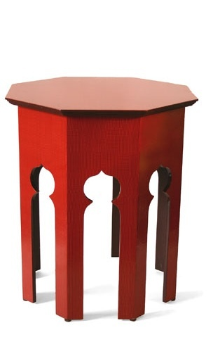 Tables, Red Moroccan Side Table, one of over 3,000 limited production interior design inspirations inc, furniture, lighting, mirrors, tabletop accents and gift ideas to enjoy repin and share at InStyle Decor Beverly Hills Hollywood Luxury Home Decor enjoy & happy pinning