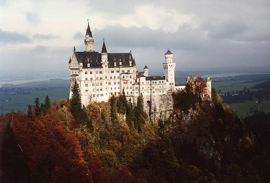 Neuschwanstein castle in Fussen, Germany