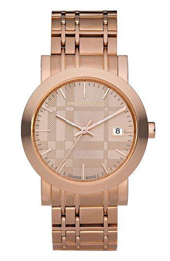 Burberry 'Classic' Rose Gold Bracelet Watch