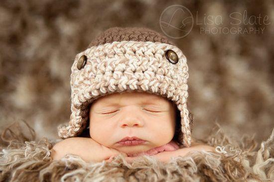 Baby aviator beanie!! :)