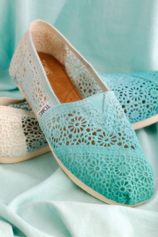 Dip Dye Crochet Ombre TOMS Shoes.