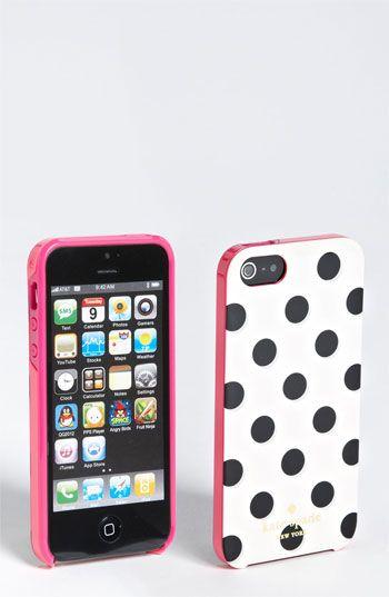 kate spade- polka dot iphone case