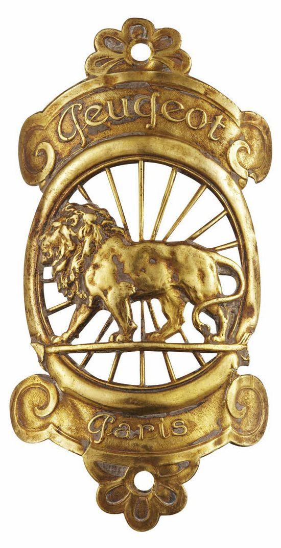 1912 Peugeot Paris lion emblem.