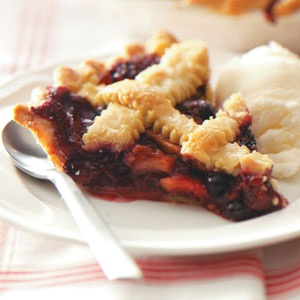 Berry-Apple-Rhubarb Pie Recipe from Taste of Home