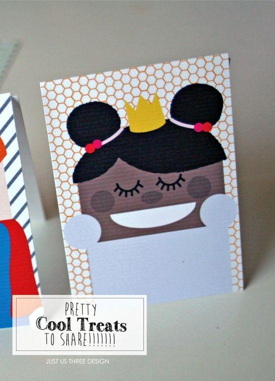 Cool Kids Easy Printable Halloween Treats - Just Us Three for anightowlblog.com