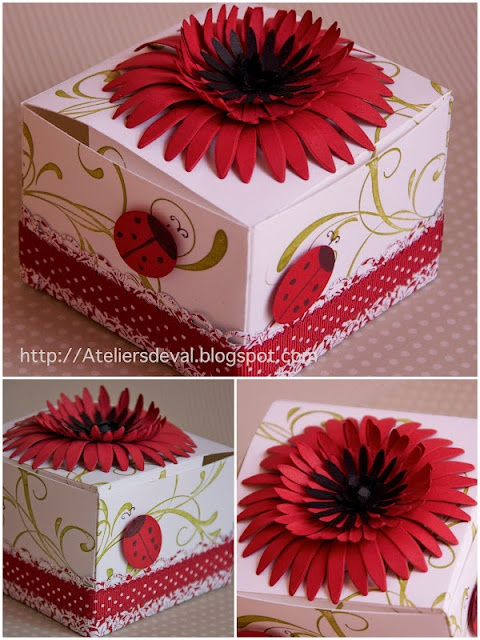 stampin'up, box, flower