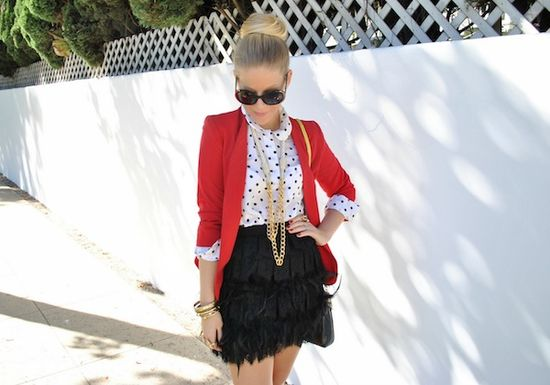 4 ways to wear a red blazer