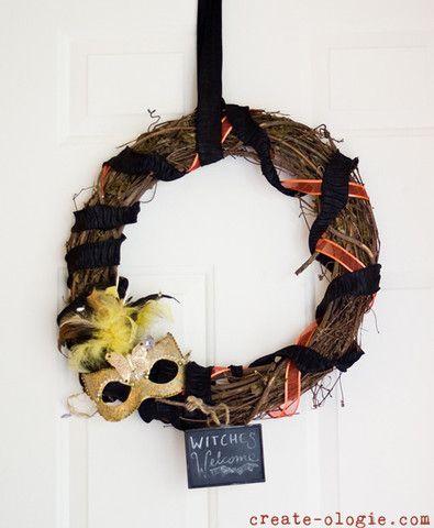 Witches Wreath #Halloween #decor