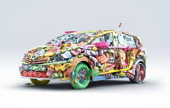 Toyota Verso by Mecanique Generale 3D imaging , via Behance