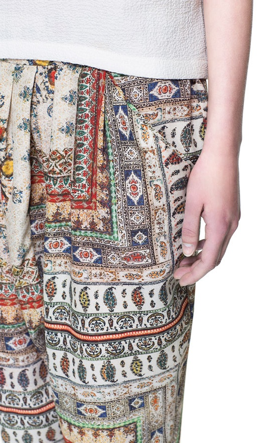 Image 5 of PRINTED HAREM PANTS from Zara