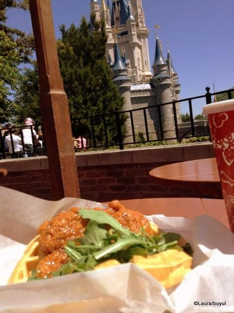 Awesome of Cinderella Castle + Waffle Sandwich from DFB Reader Laura!