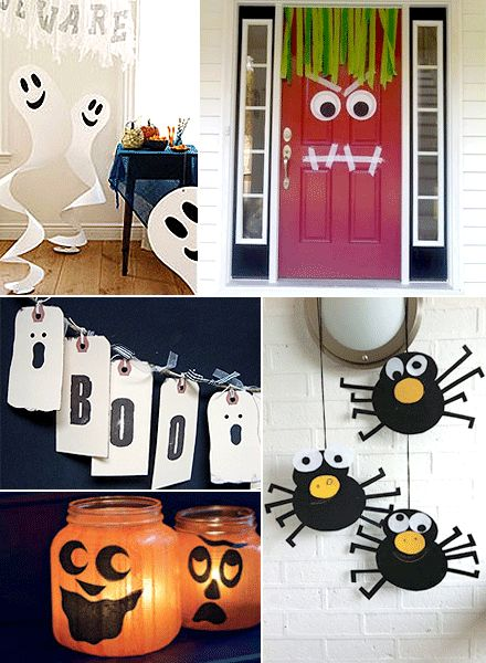 Halloween decor made at home