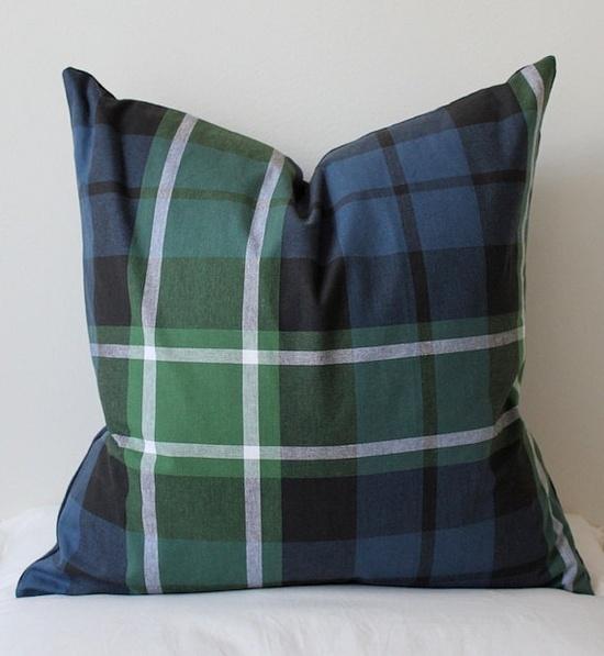 Blue and green tartan