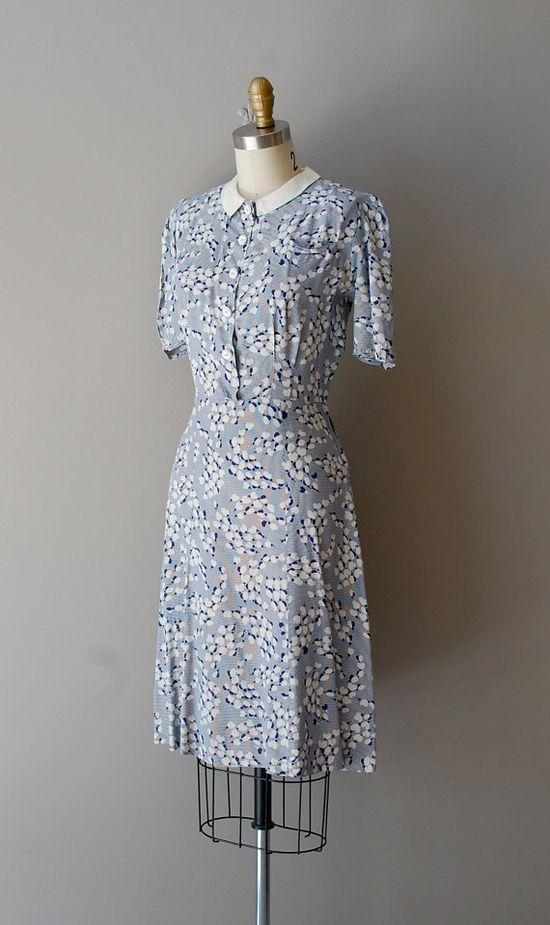 vintage 1930s Floating Hearts dress