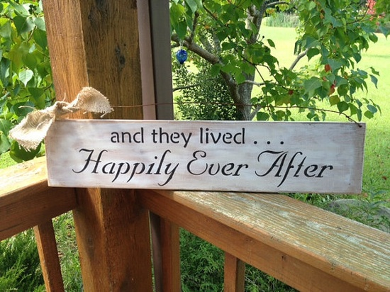 and they lived HAPPILY EVER AFTER romantic by AmericasFrontPorch, $22.00